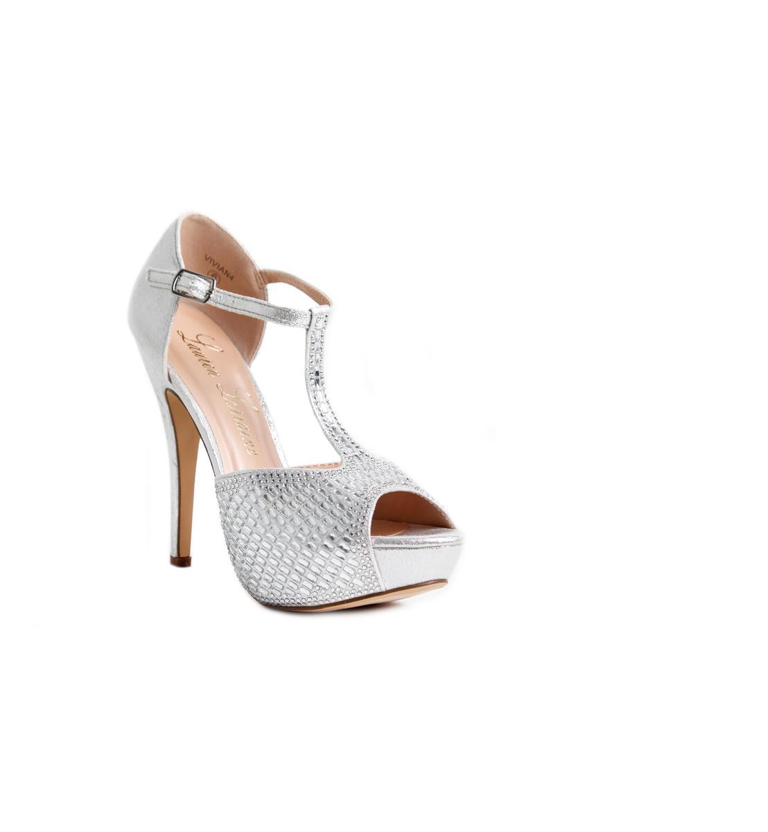 Rhinestone T-Strap Shimmer High Heel