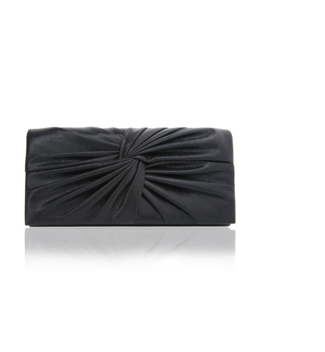 Reflective Suedette Knot Clutch