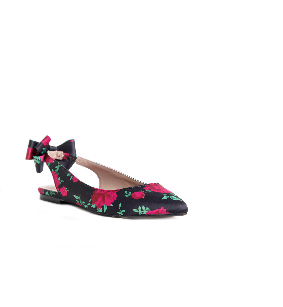 Pointy Flat Bow Back Ballet Shoe
