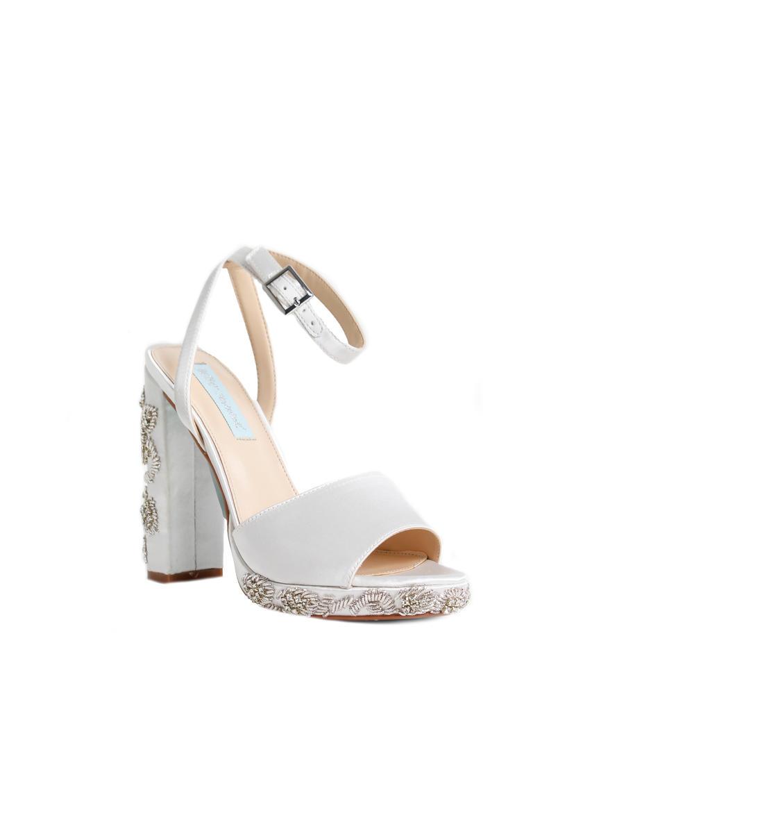Embellished Heel Ankle Strap Platform