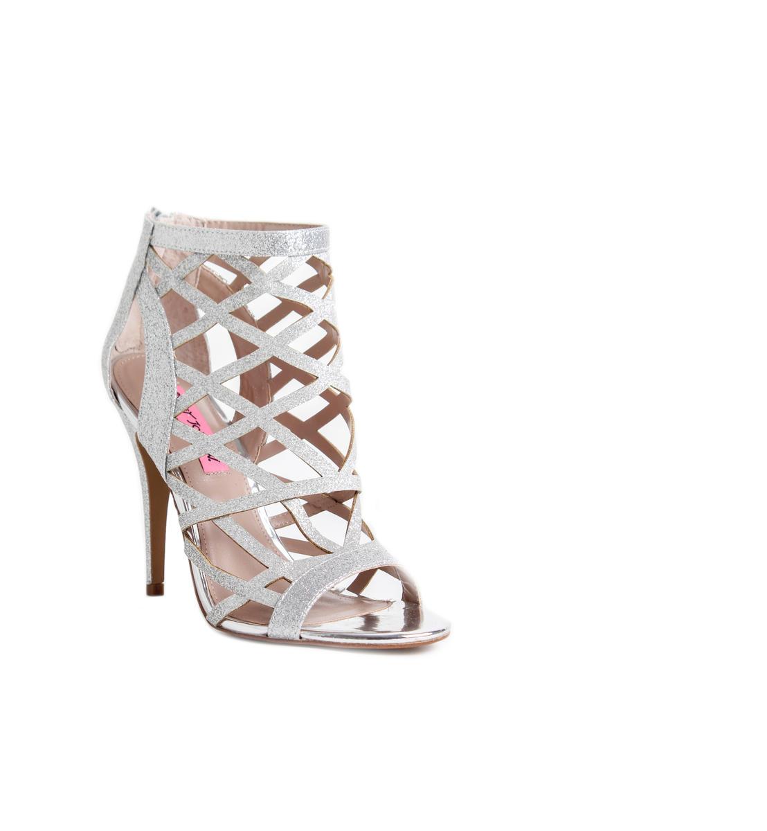 Glitter Cage Stiletto Shoe