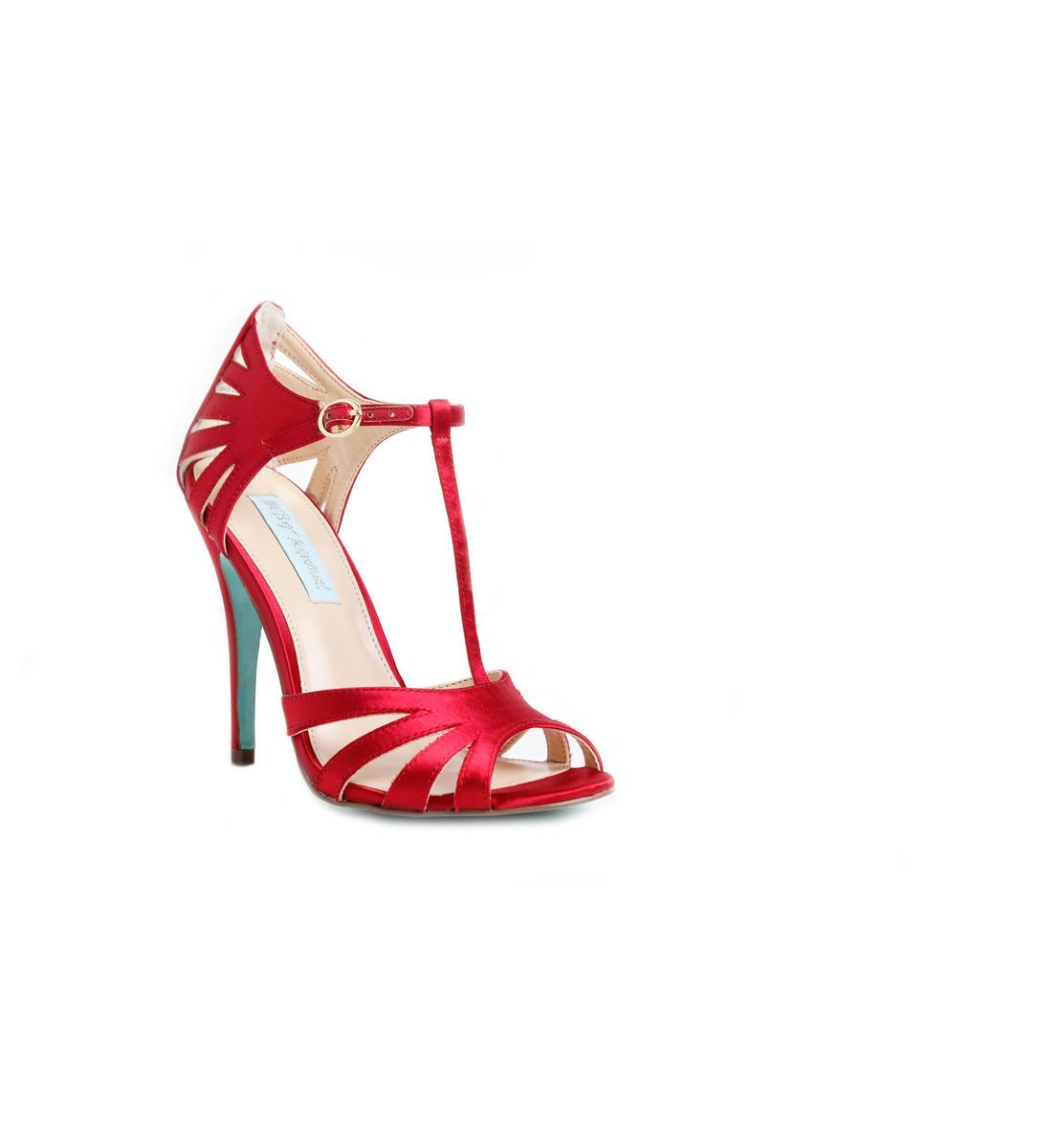 T-Strap Glitter Heel