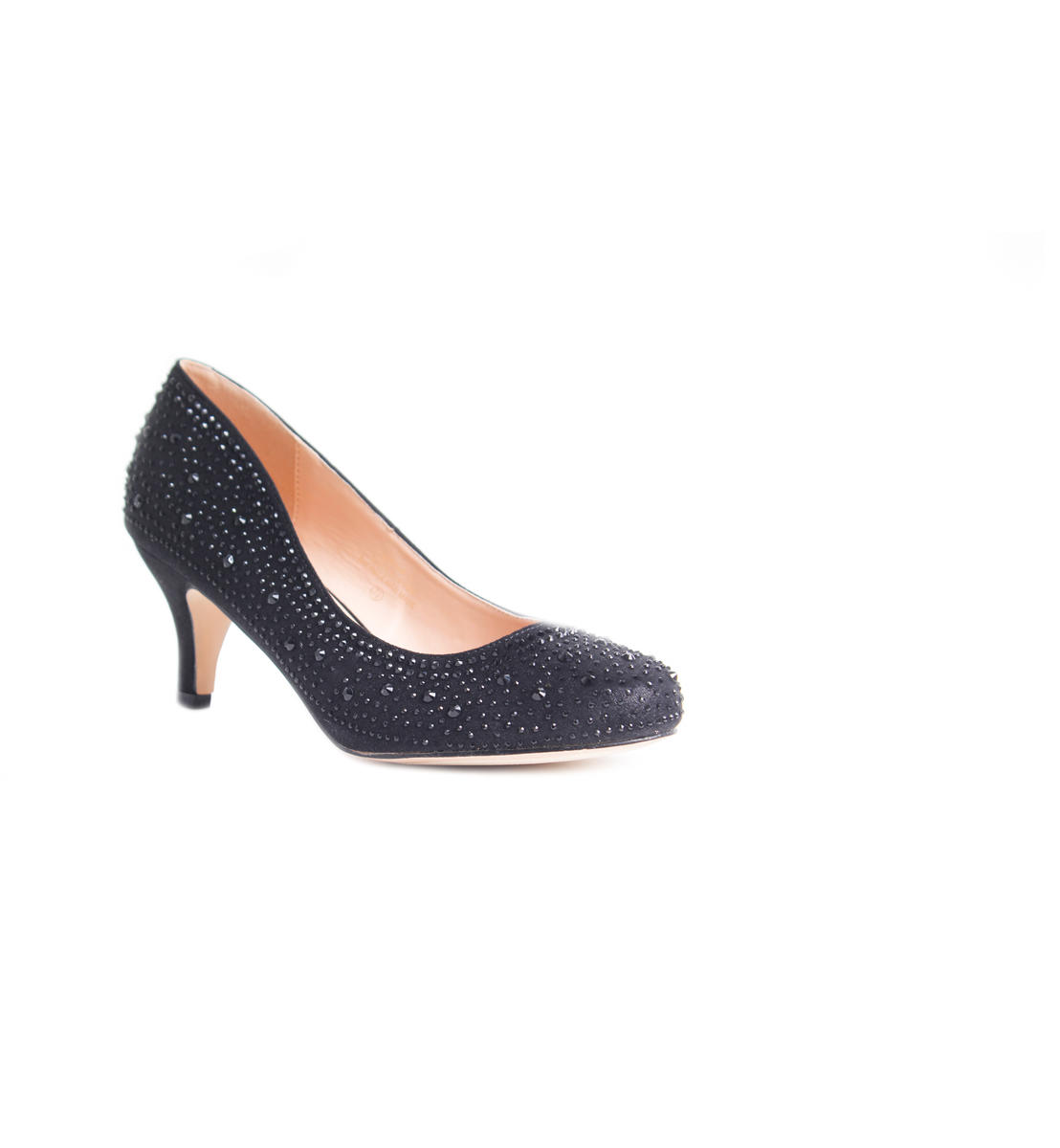 Low Heel Rhinestone Pump