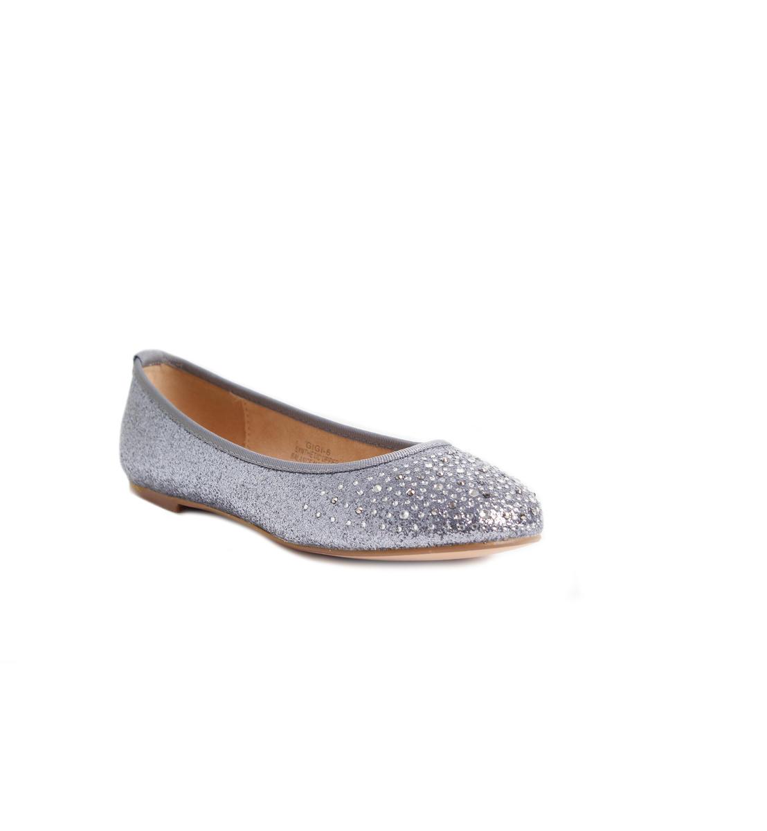 Glitter and Rhinestone Ballerina Flat