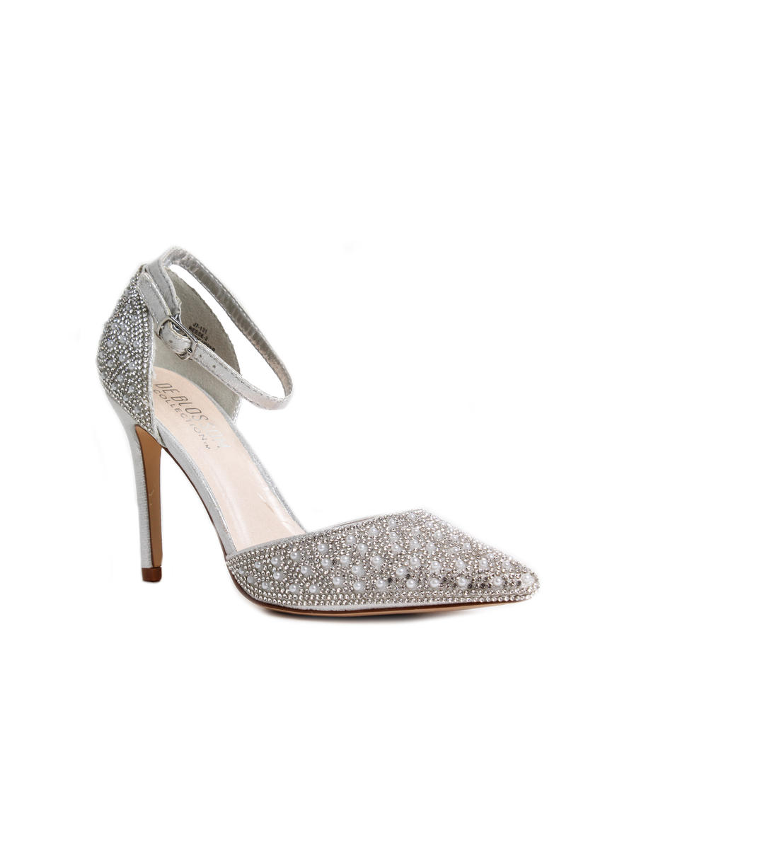 Stone and Pearl Pointy Heel