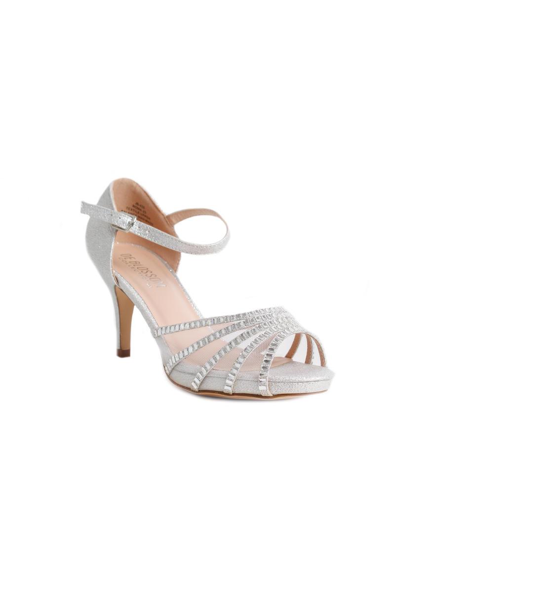 Glitter Mesh Rhinestone Ankle Strap