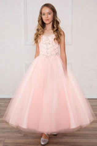 Beaded Bodice Tulle Ball Gown
