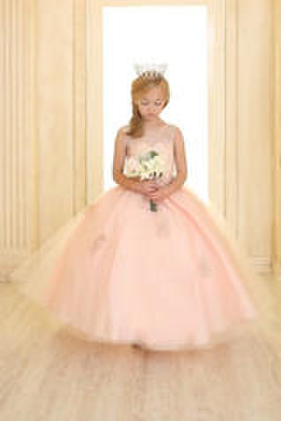 Illusion Sweetheart Beaded Lace Bodice Ball Gown