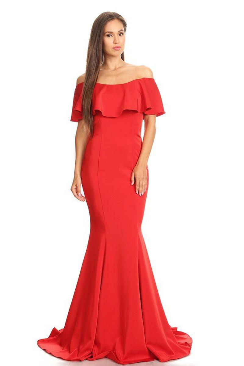 Off The Shoulder Long Gown