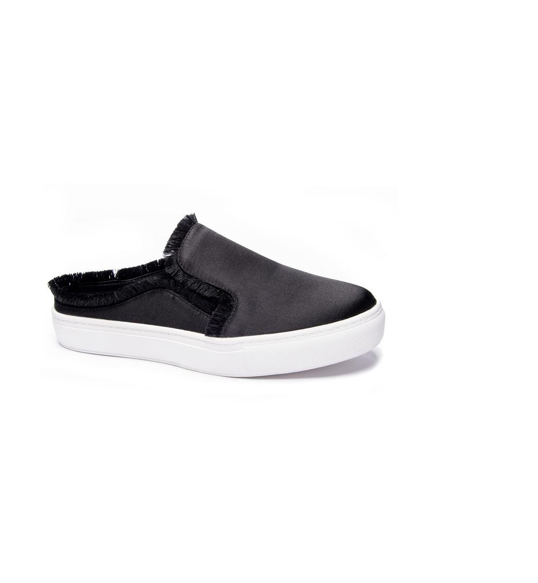 Satin Slip On Sneaker