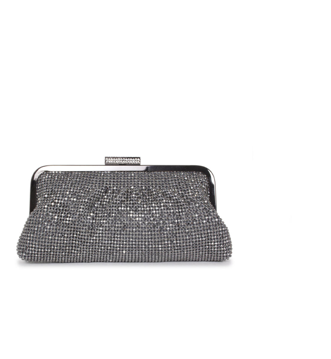 Soft Metal Frame Rhinestone Clutch