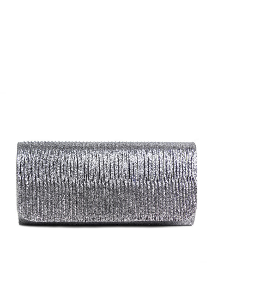 Glitter Pleated Clutch