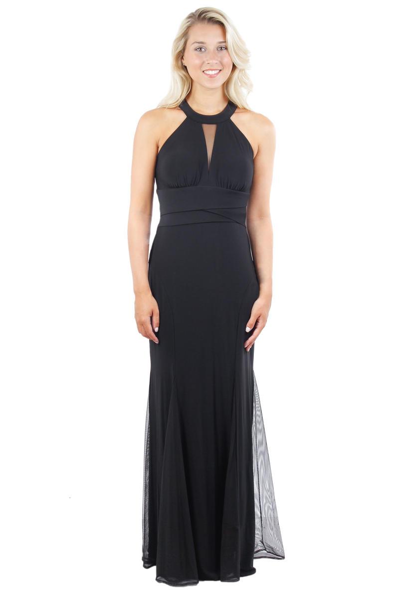 Halter Neck Pleated Waist Gown