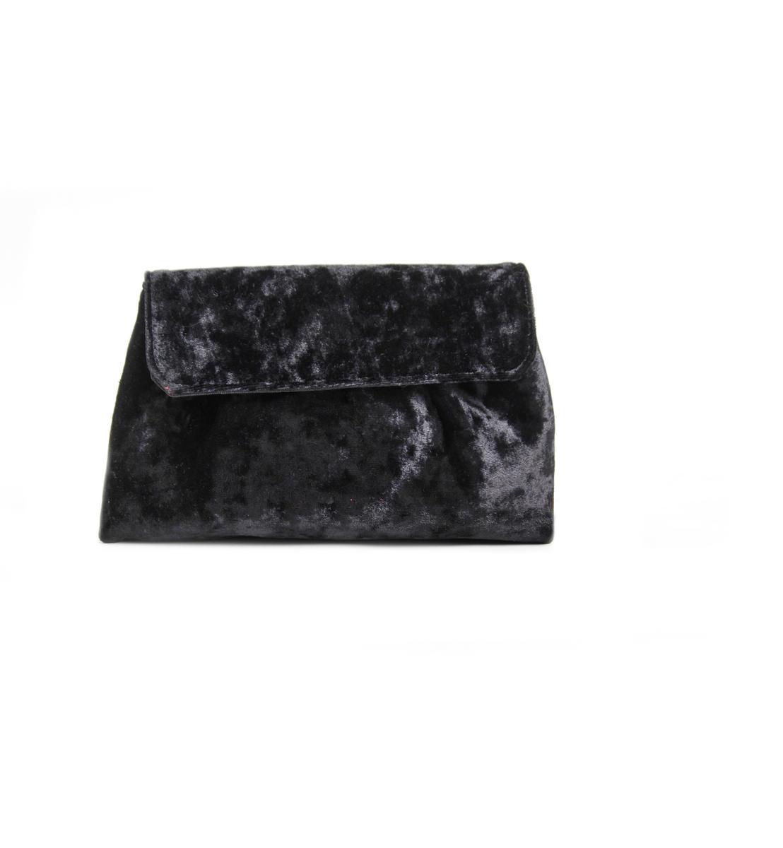 Velvet Pouch Crossbody Bag