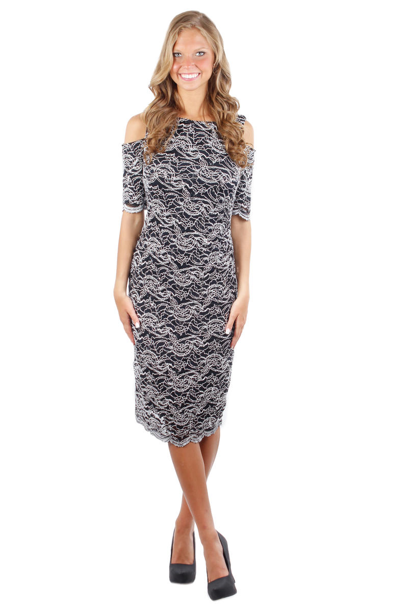 Cold Shoulder Short Sleeve Dress
