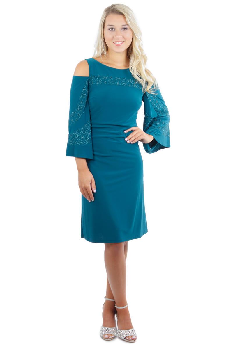 Long Sleeve Cold Shoulder Dress