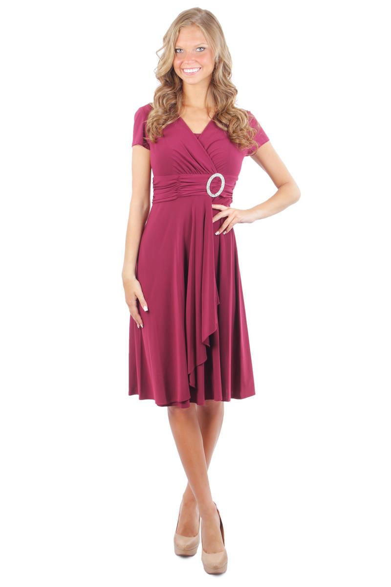 Short Bucked Ruched Waist Dress