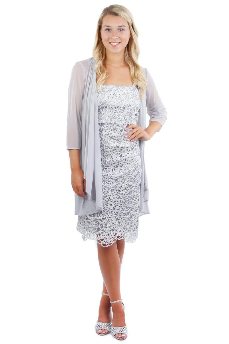 2 Piece Metallic Crochette Dress