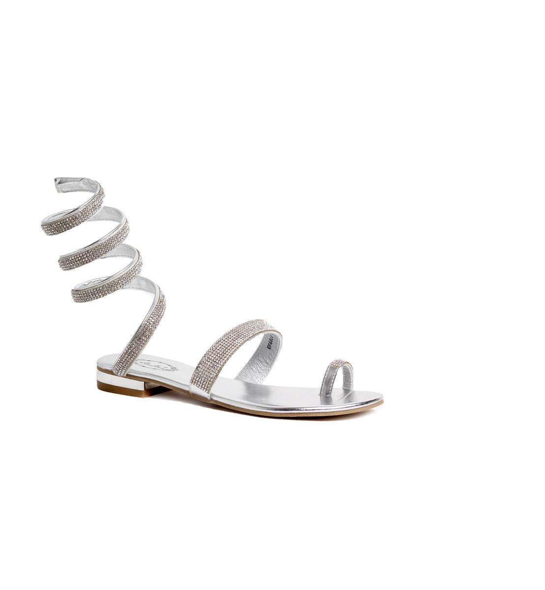 Spiral Flat Toe Thong Sandal