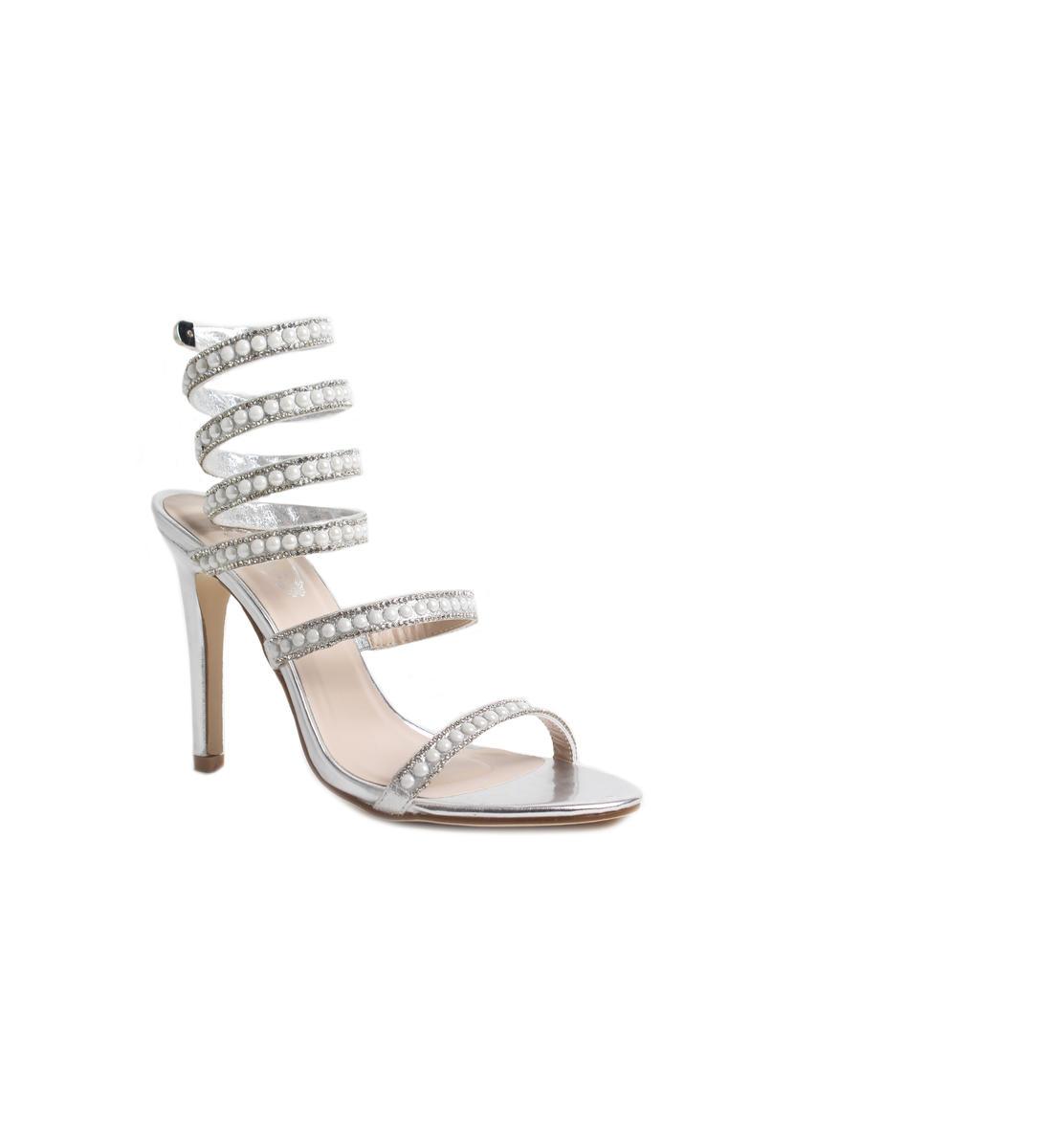 High Heel Spiral Rhinestone Pearl Shoe