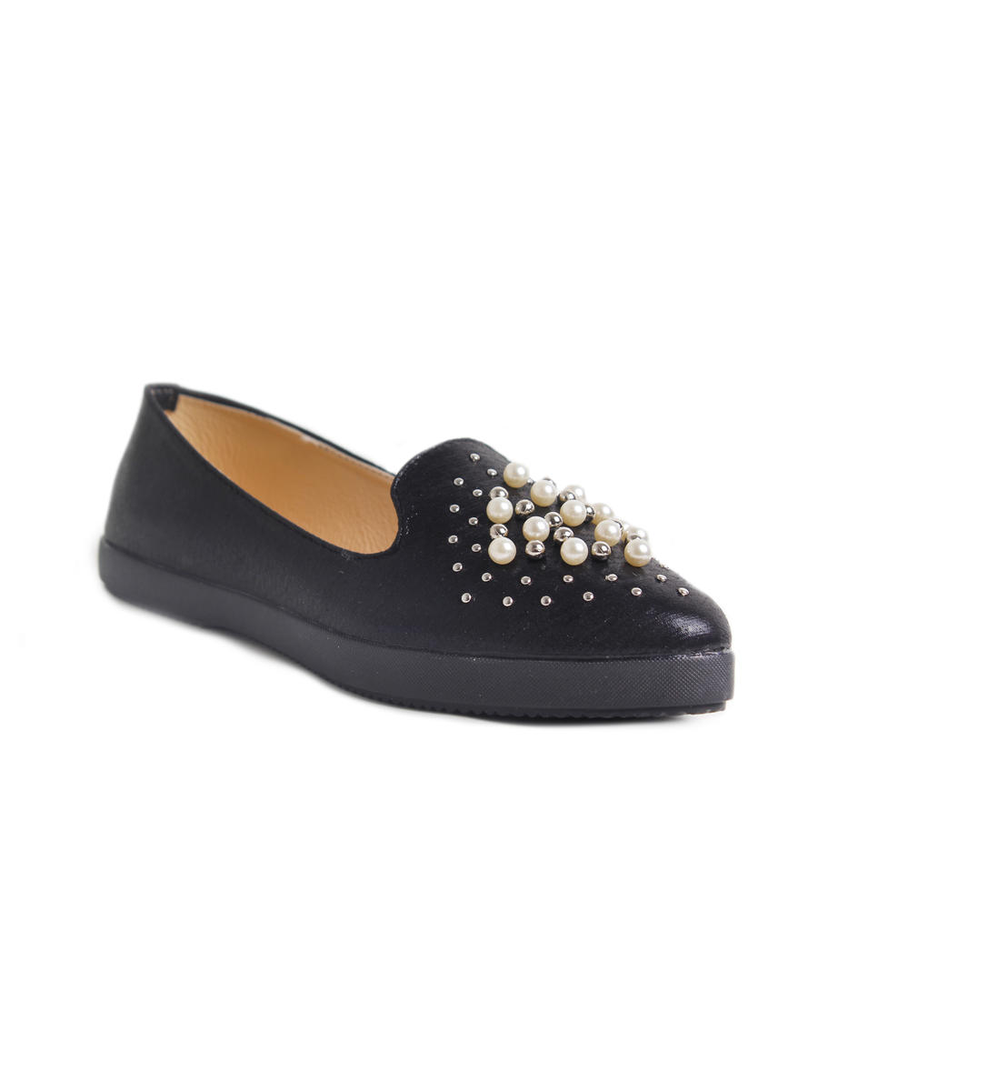 Slip On Sneaker With Pearls