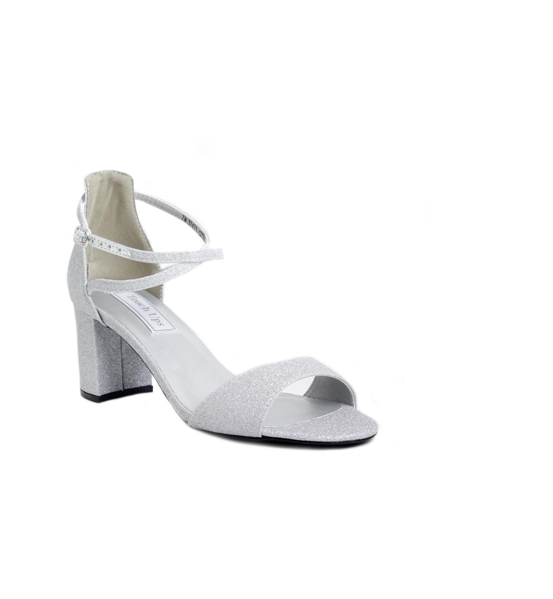 Glitter Chunky Block Heel Sandal