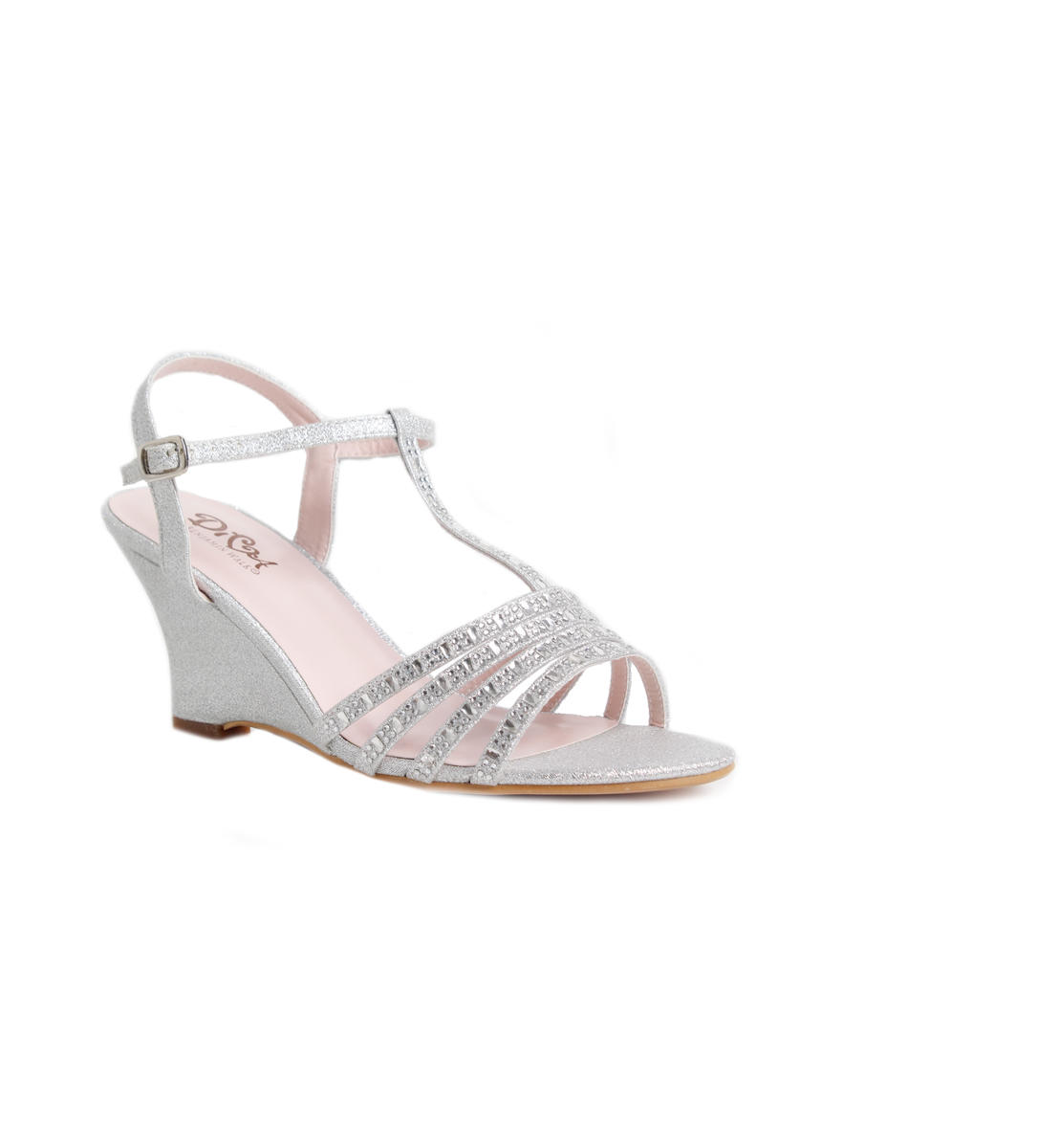 Open Toe T-Strap Wedge