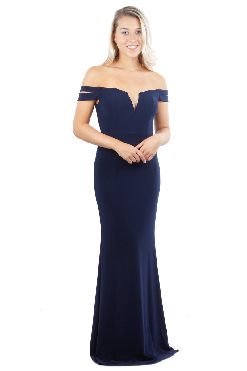 Off-The-Shoulder Long Gown