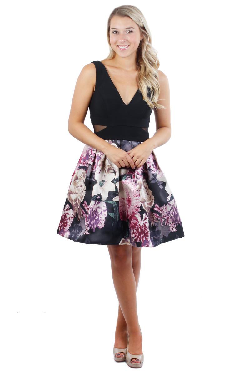 Sleeveless Print Skirt Dress