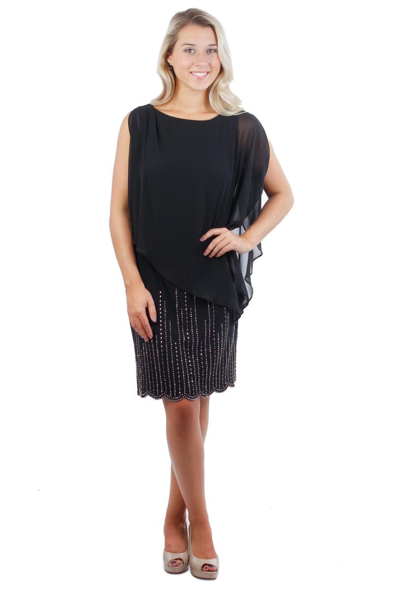 Beaded Skirt Mock Top Dress