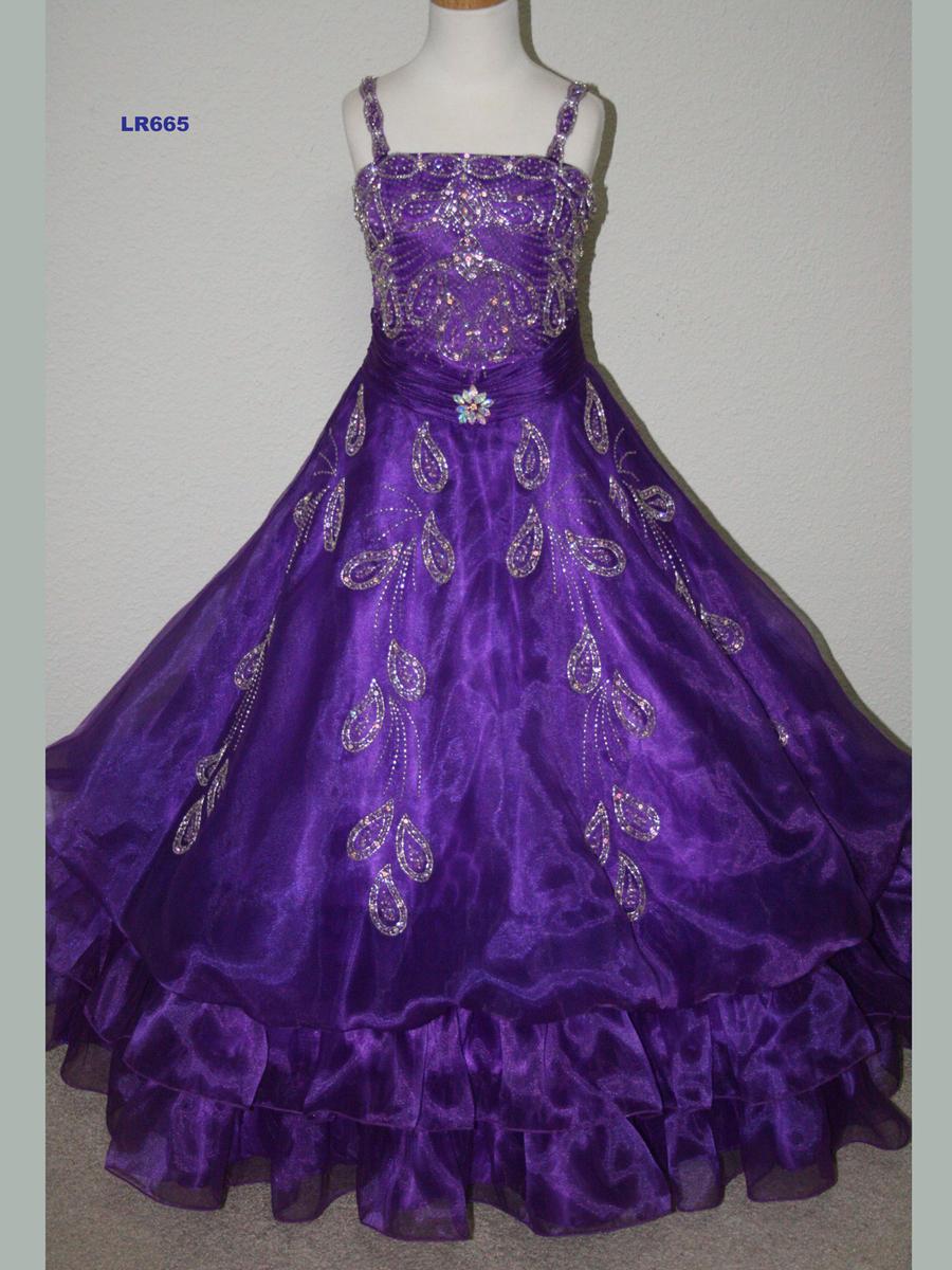 Girls Glitz Pageant Dresses-Long Skirt