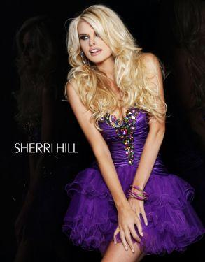 Chunky Beaded Short Sherri Hill