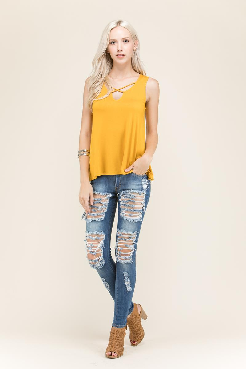 Front Strap Relaxed Top