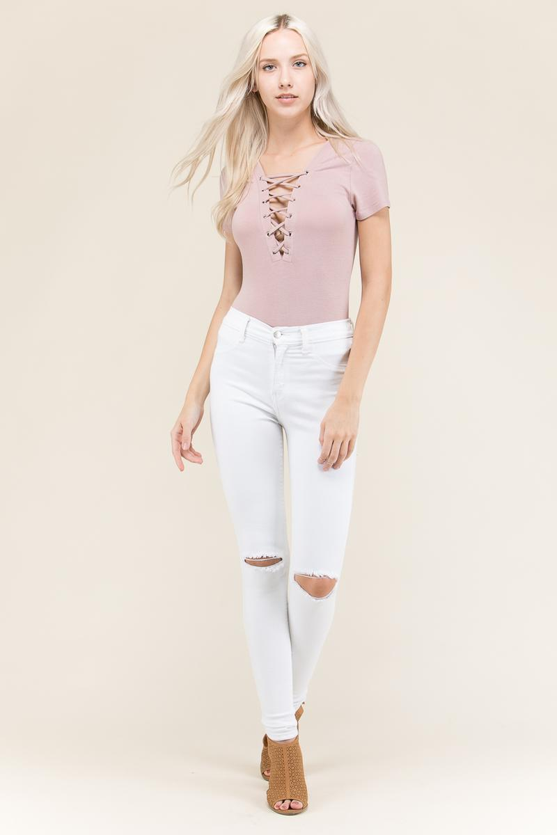 Lace Up Body Suit